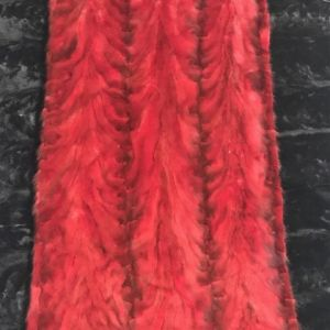 Mink back paw Red